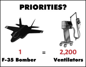 Priorities: 1 F-35 bomber vs. 2,200 ventilators