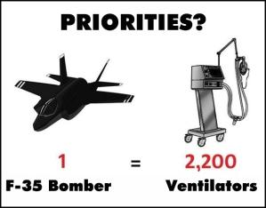 Priorities: 1 F-35 bomber vs. 2,200 ventilators