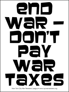 End War -- Don't Pay War Taxes