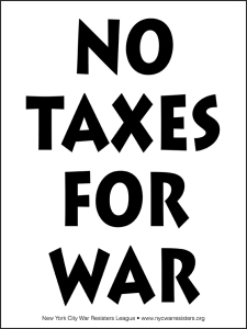 No Taxes for War