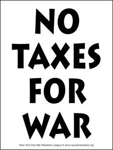 No Taxes for War