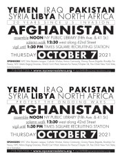 Afghanistan 2021 call to action flyer.indd